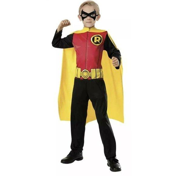 NEW Robin Halloween Costume Boys Small 4-6 Rubie's